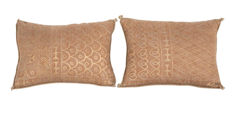 "Unlike Pair of Contemporary Fortuny ""Ashanti"" Pattern Pillows"