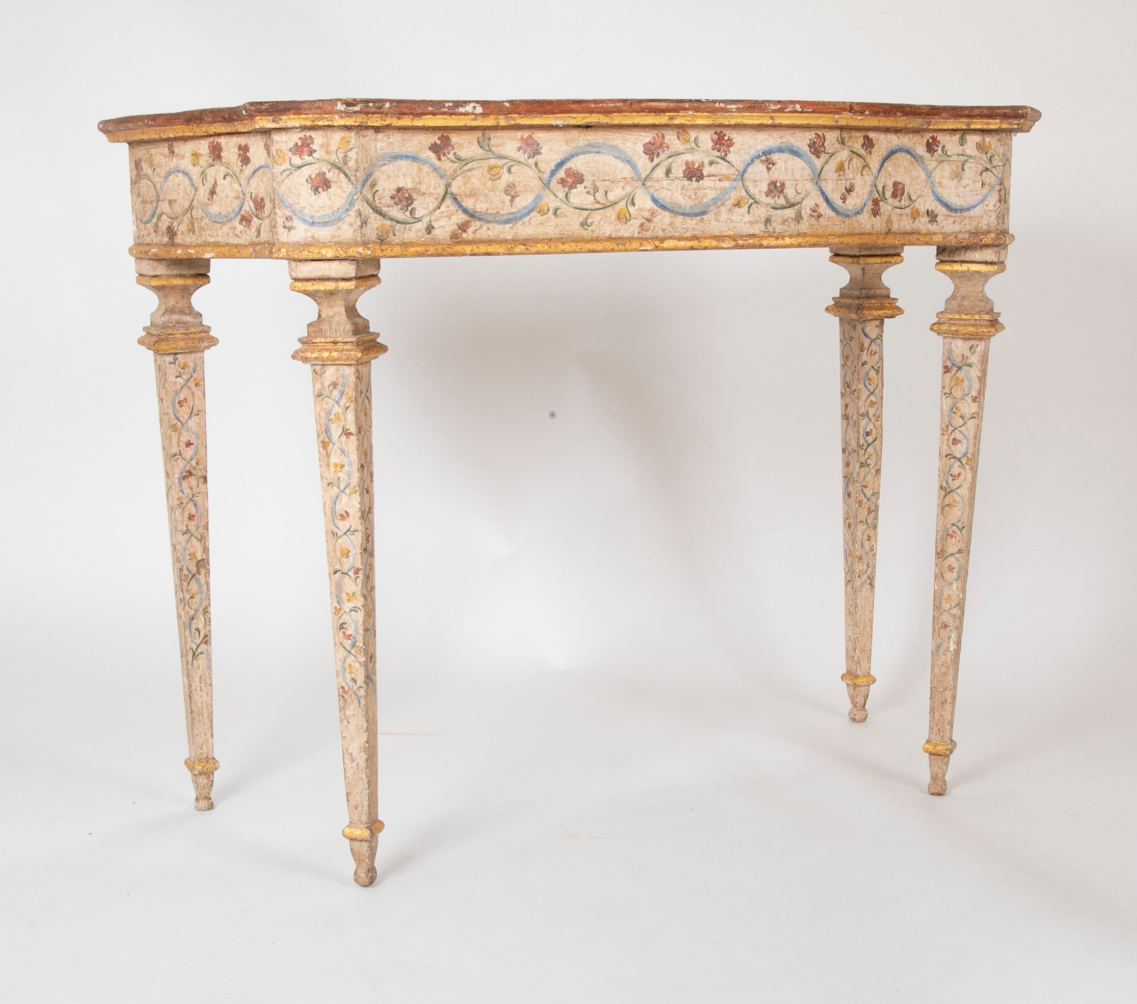 Pair of Late 18th Century Venetian Painted Consoles
