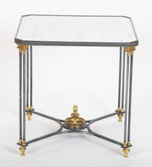 A Pair of Marble Top Directoir Style Side Tables