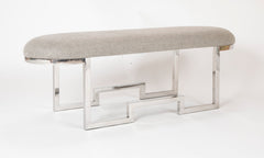A Pair of Chrome Modernist Benches