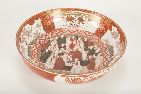 A 19th Century Large Japanese Bowl Imari/Kutani Ware