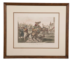 """Equitation Lesson"" 19th Century French Print"