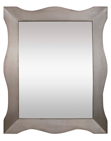 Modernist Silver Gilt Mirror in the Manner of James Mont