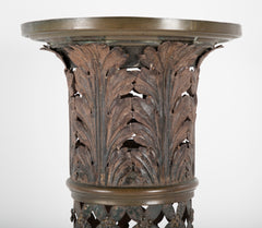 French Painted and Gilt Tole Column with Corinthian Capital