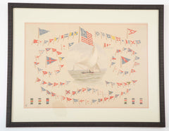"Rare Print by Frederick S. Cozzens from his Portfolio "" American Yachts, Their Clubs & Races """