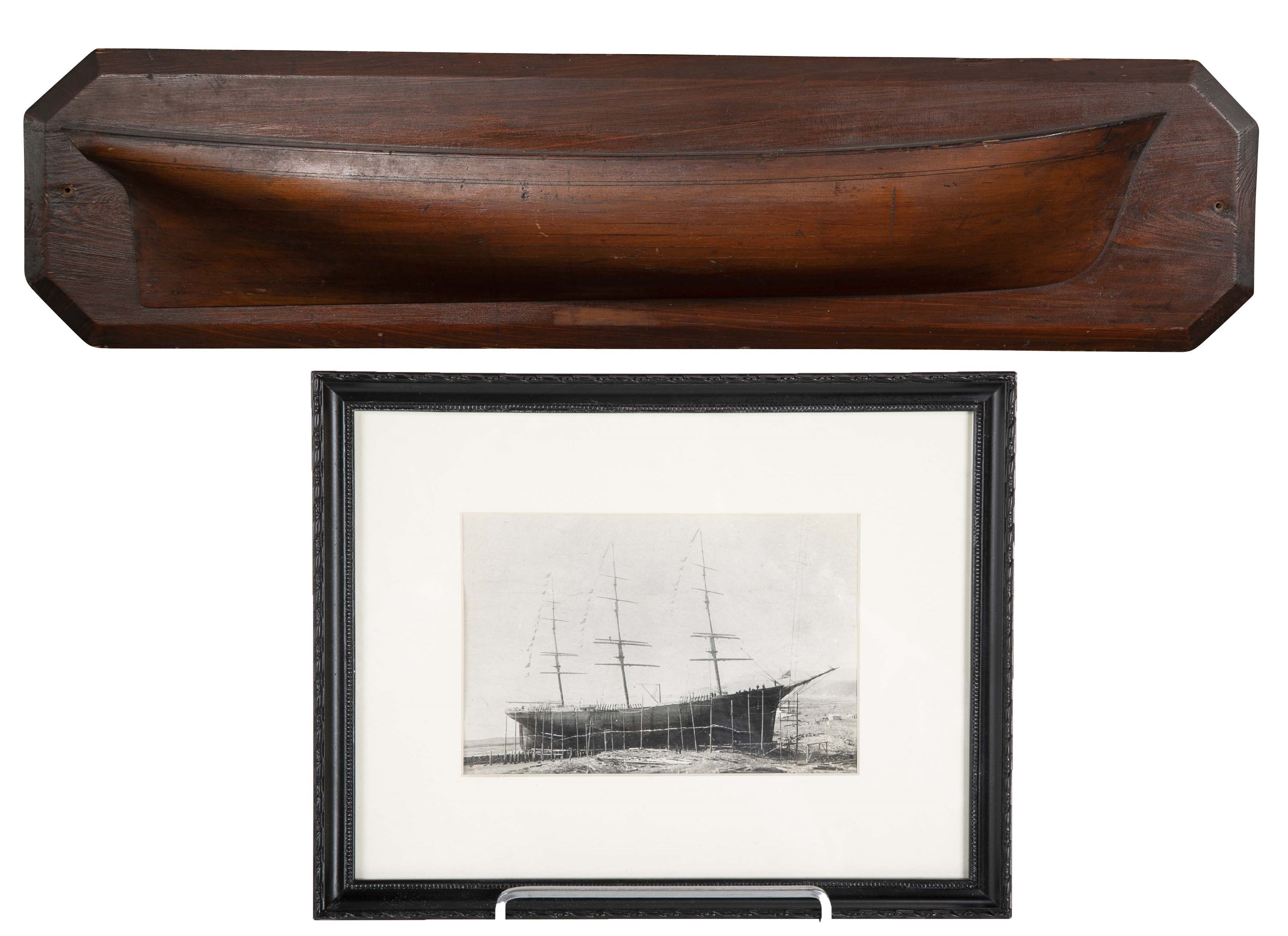 Mounted Builder's Half Hull Model of the Ship