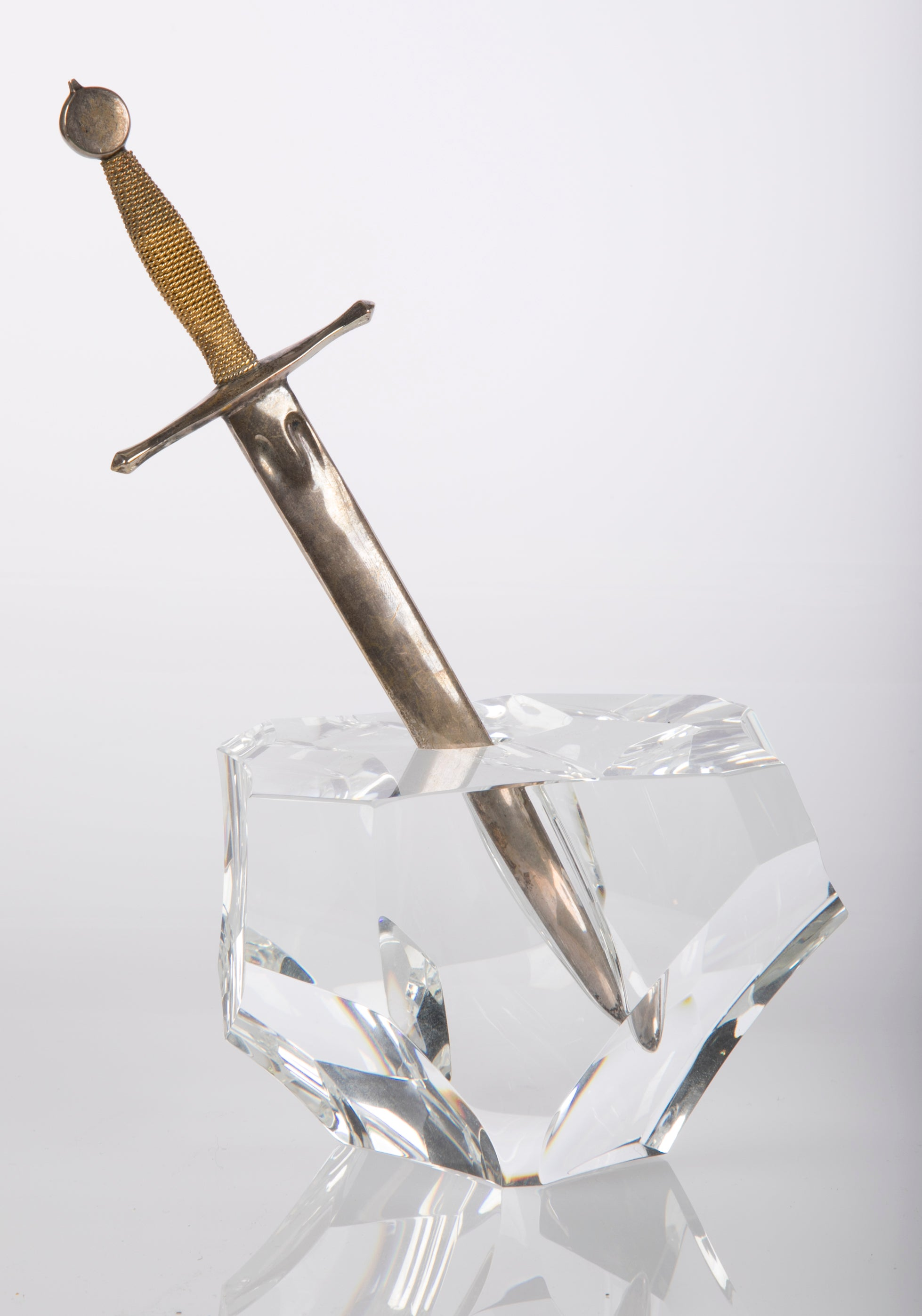 Steuben Paperweight and Letter Knife