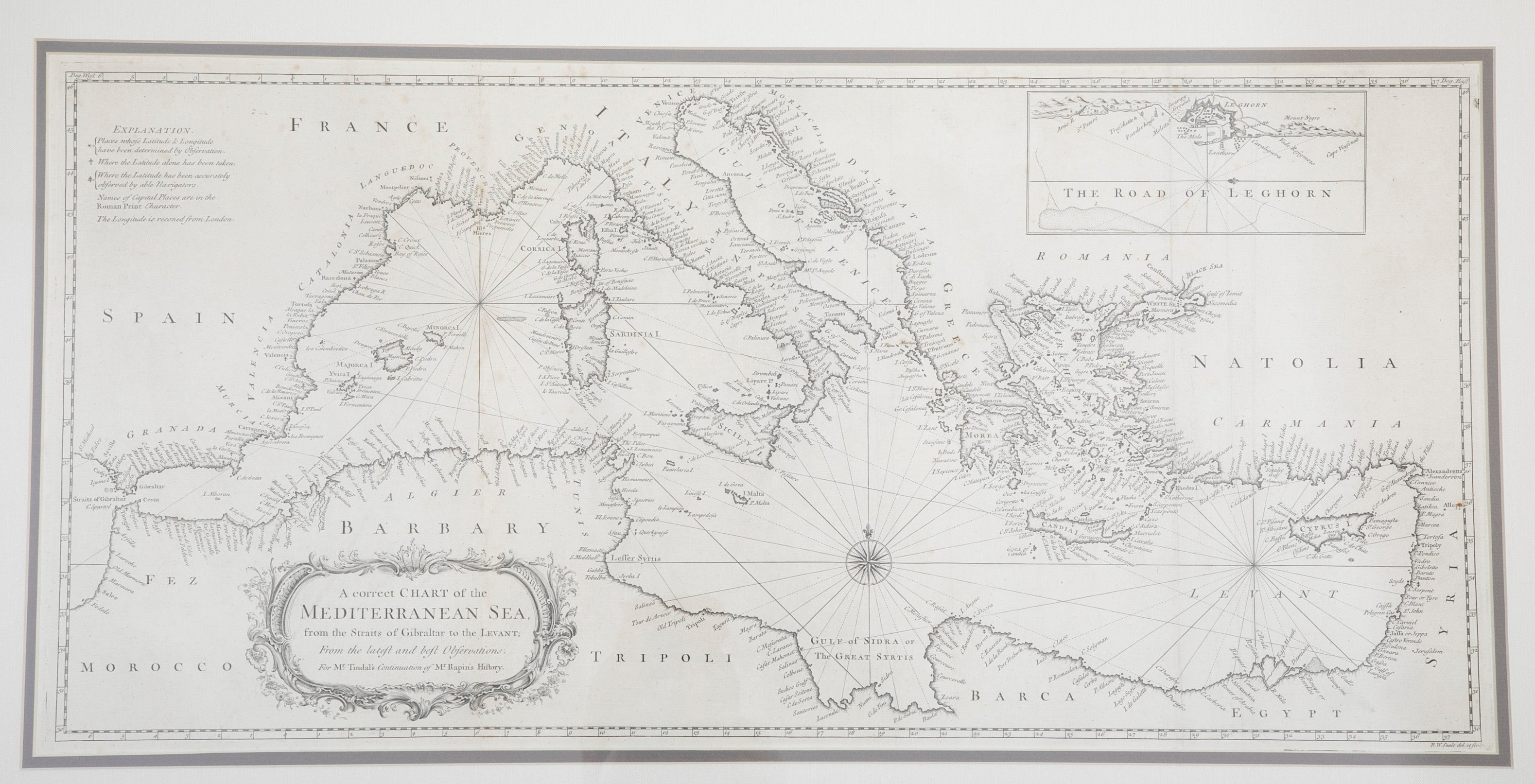Early Map of the Mediterranean Sea