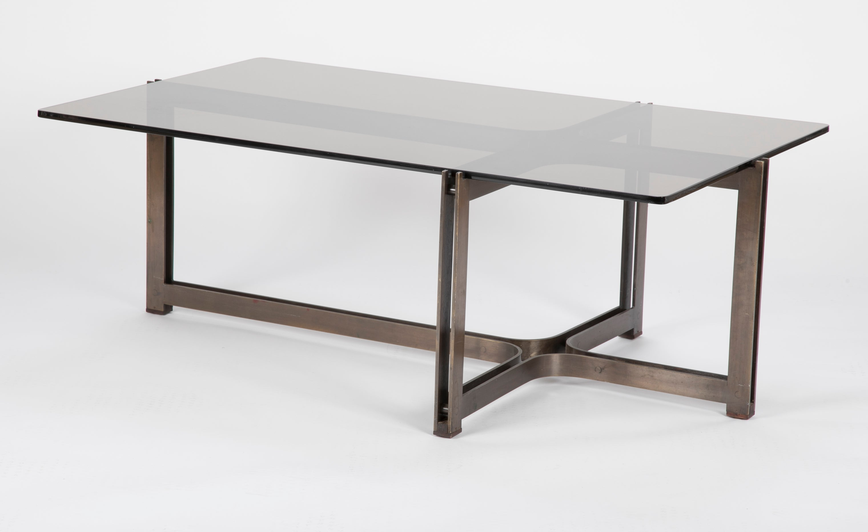 Genial Bronze And Rosewood Coffee Table Designed By Roger Sprunger For Dunbar