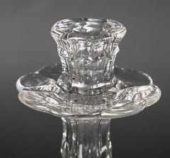 Pair of Pressed Glass English Candlesticks