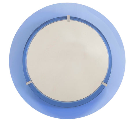 Cristal Arte Mirror with Blue Glass Surround