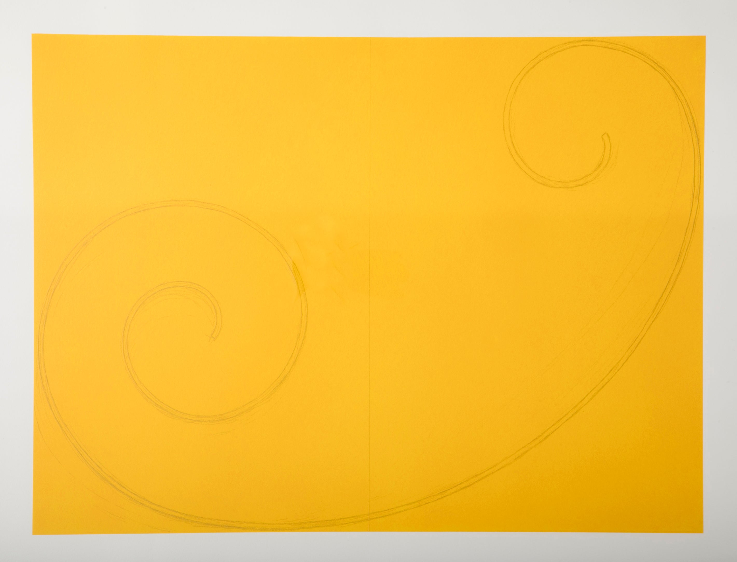 "Robert Mangold Silkscreen ""Yellow Curled Figure"""