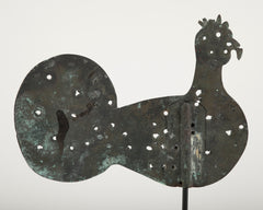 19th Century Flat Copper Weathervane in the Form of a Turkey