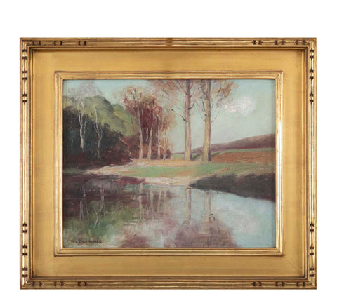 """Edge of the Pond"" Oil on Canvas by William Chadwick"