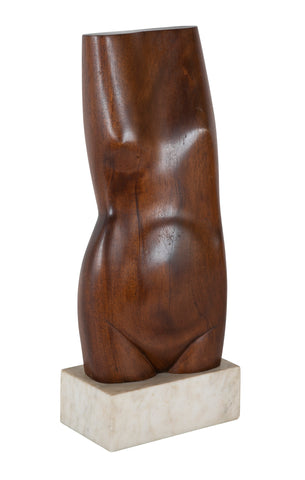 Fine Rosewood Sculpture of a Female Torso