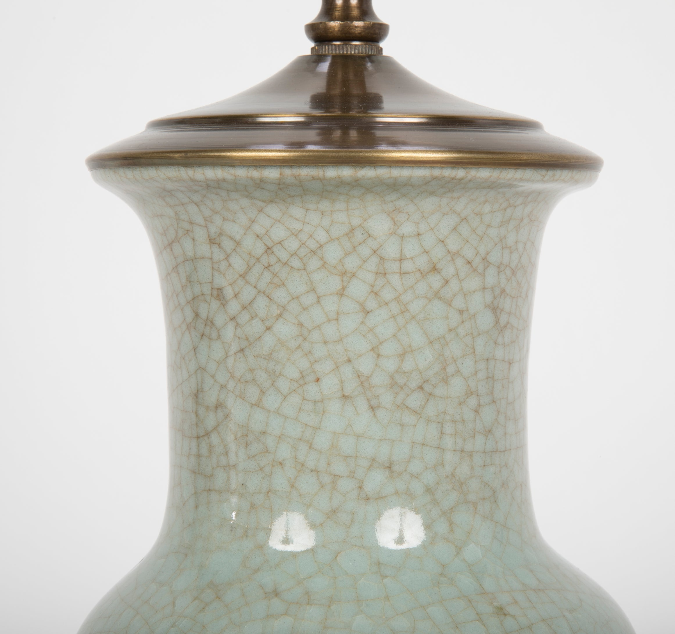Guan Ware Baluster Form Vase now a Lamp