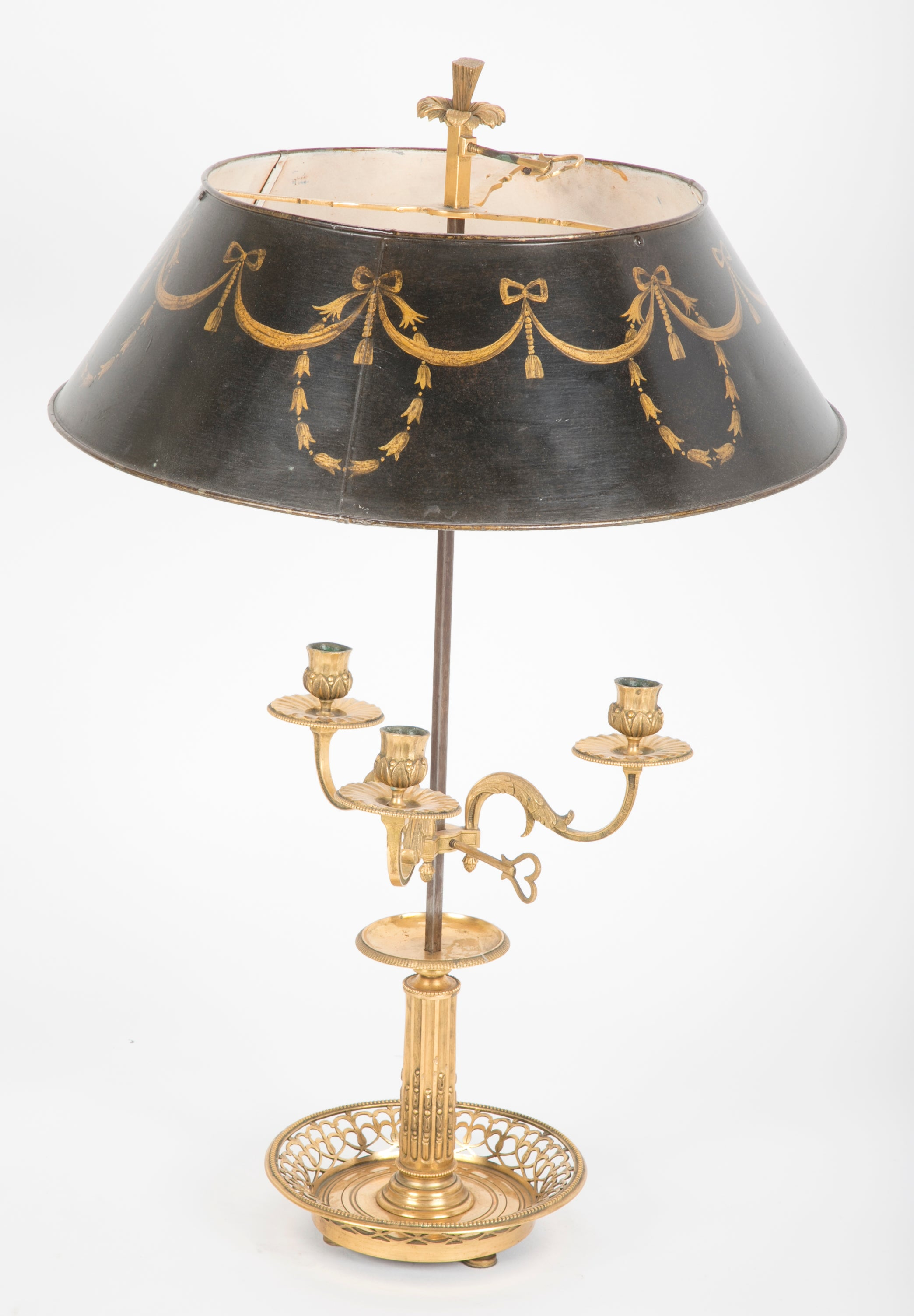 A French Bronze Bouillotte lamp