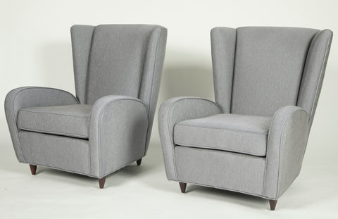 A Pair of Paola Buffa Style Upholstered Arm Chairs