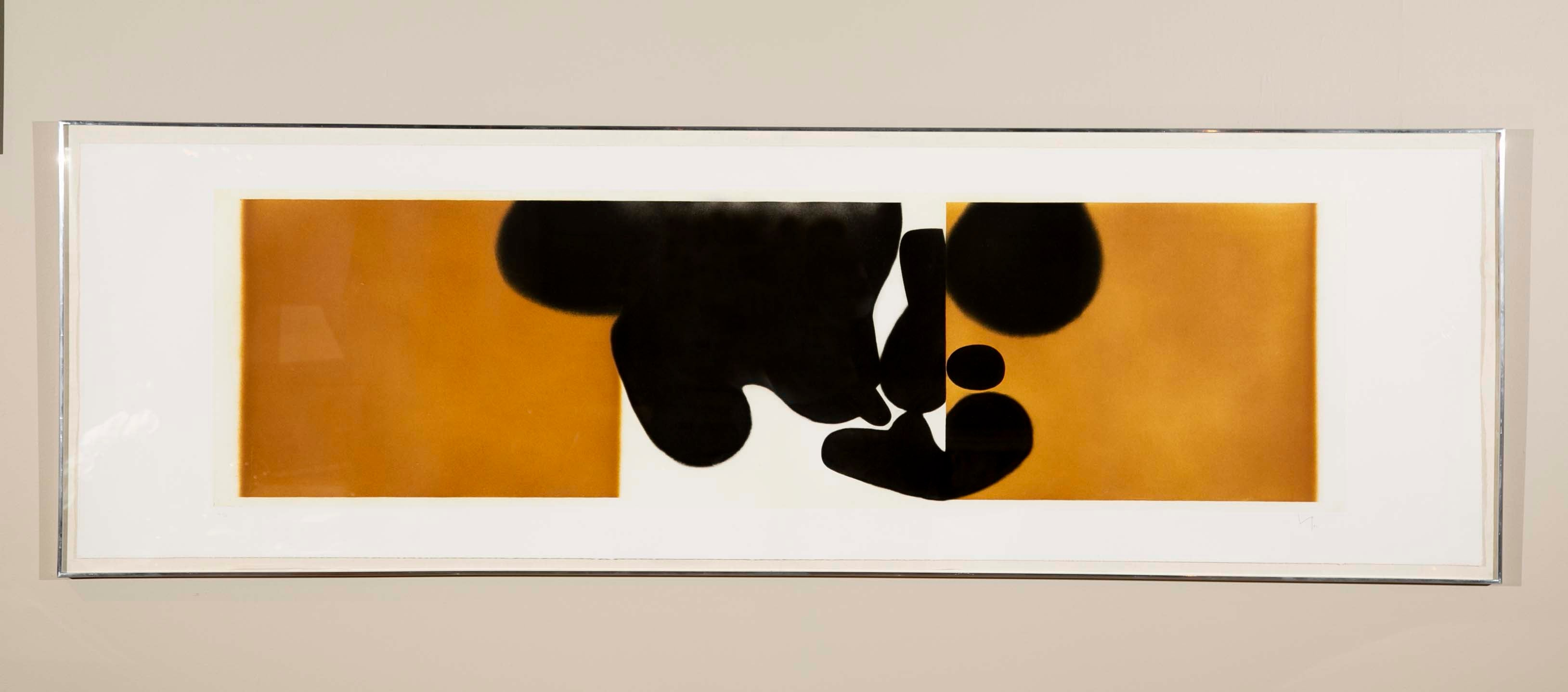 """Punto di Cantatto 4"" Color Etching and Aquatint by Victor Pasmore (1908-1998)"