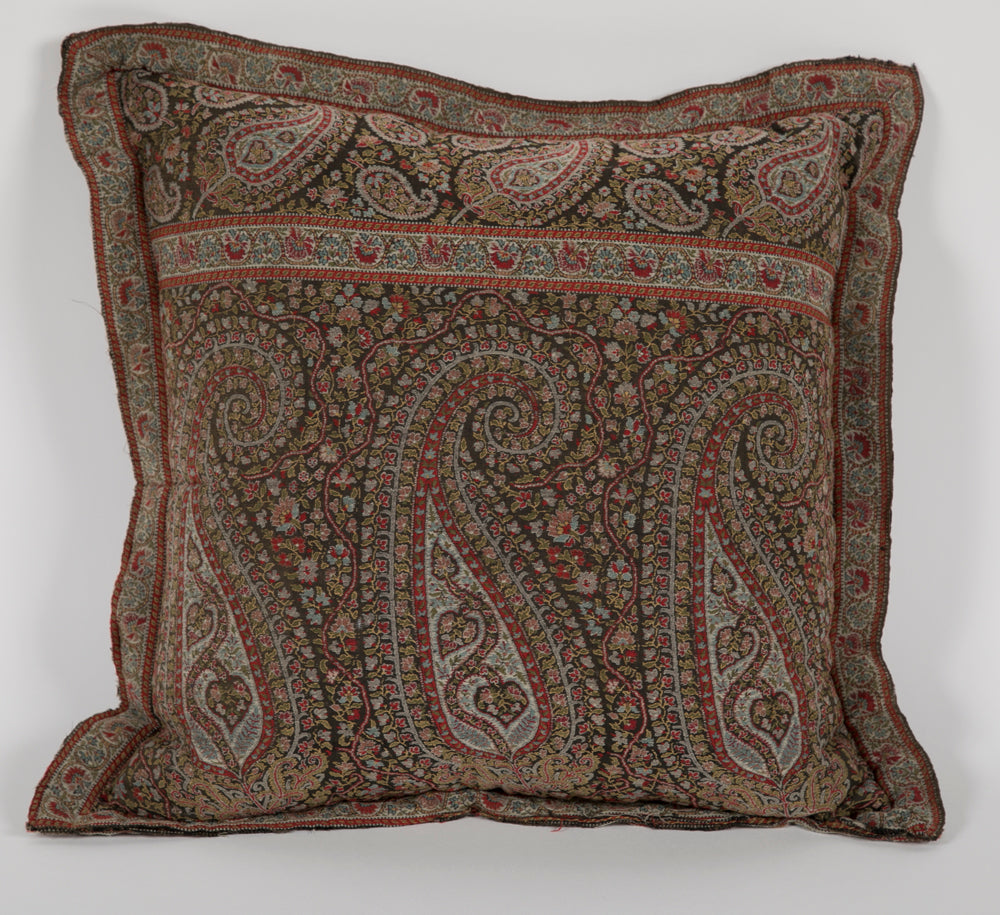 Antique Paisley Fabric Pillow