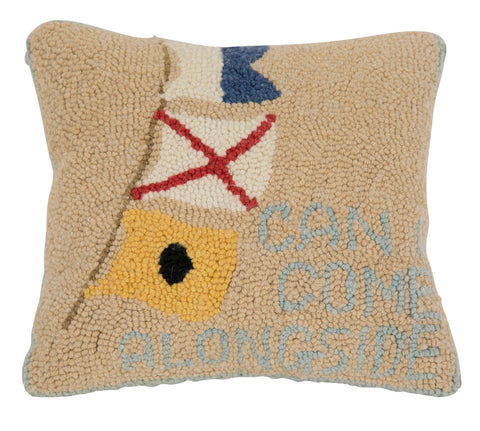 """Can I Come Aboard"" Pillow"