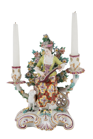 French Porcelain Candlestick
