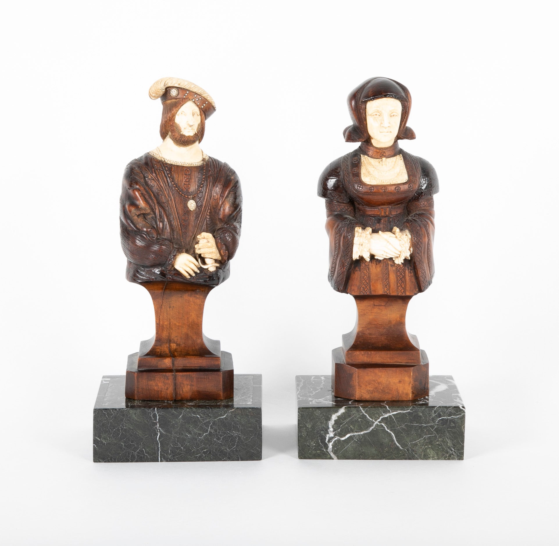 Pair of 19th Century Carved Wood Figures