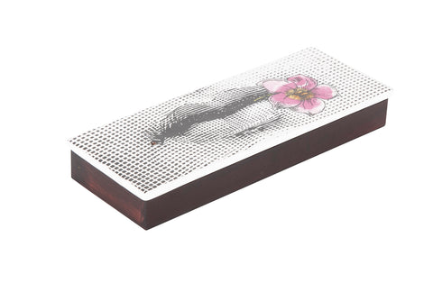 Fornasett Signed Box Featuring Lips & Flowers on the Lid