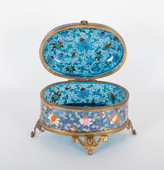 19th Century Moser Bohemian Enameled Glass Box