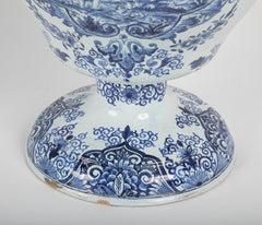18th Century Dutch Delft Covered Jar