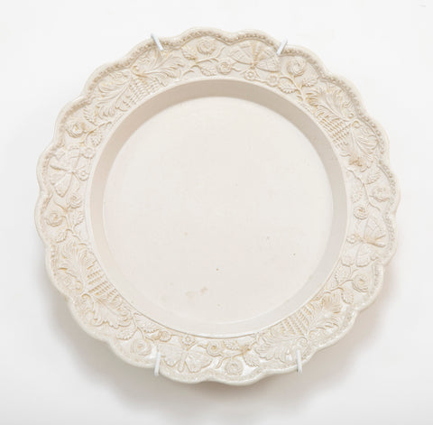 A Press Molded Staffordshire Salt Glazed Plate