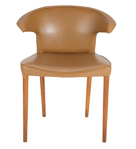 An Oak & Leather Upholstered Chair Attributed to Frits Henningsen