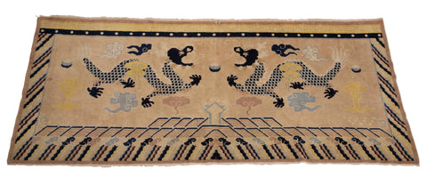 Banner Rug with Dragons from Northern China