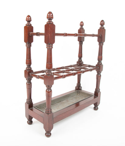 English Mahogany Umbrella Stand