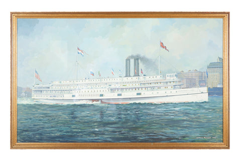 "Goauche of Steamship ""Providence""  by Wallace Randall, 1946"