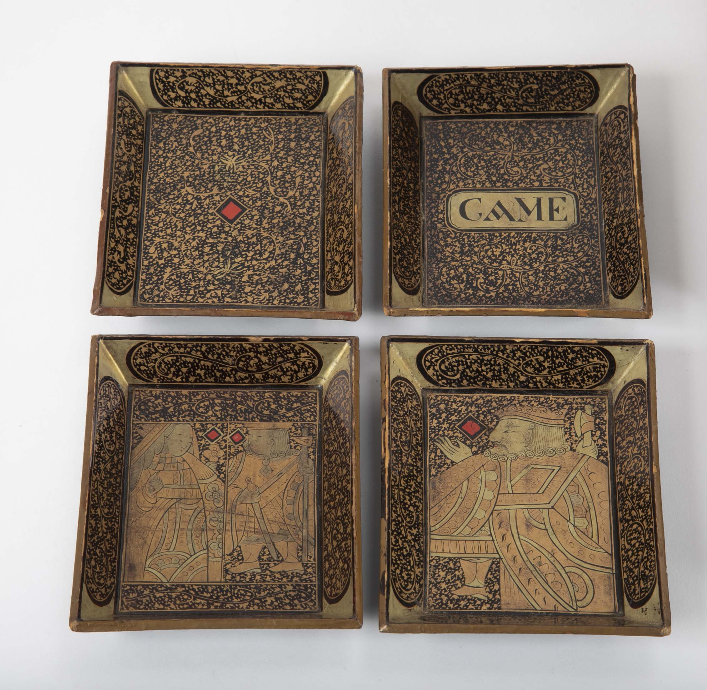 19th Century Chinese Lacquerware Game Box