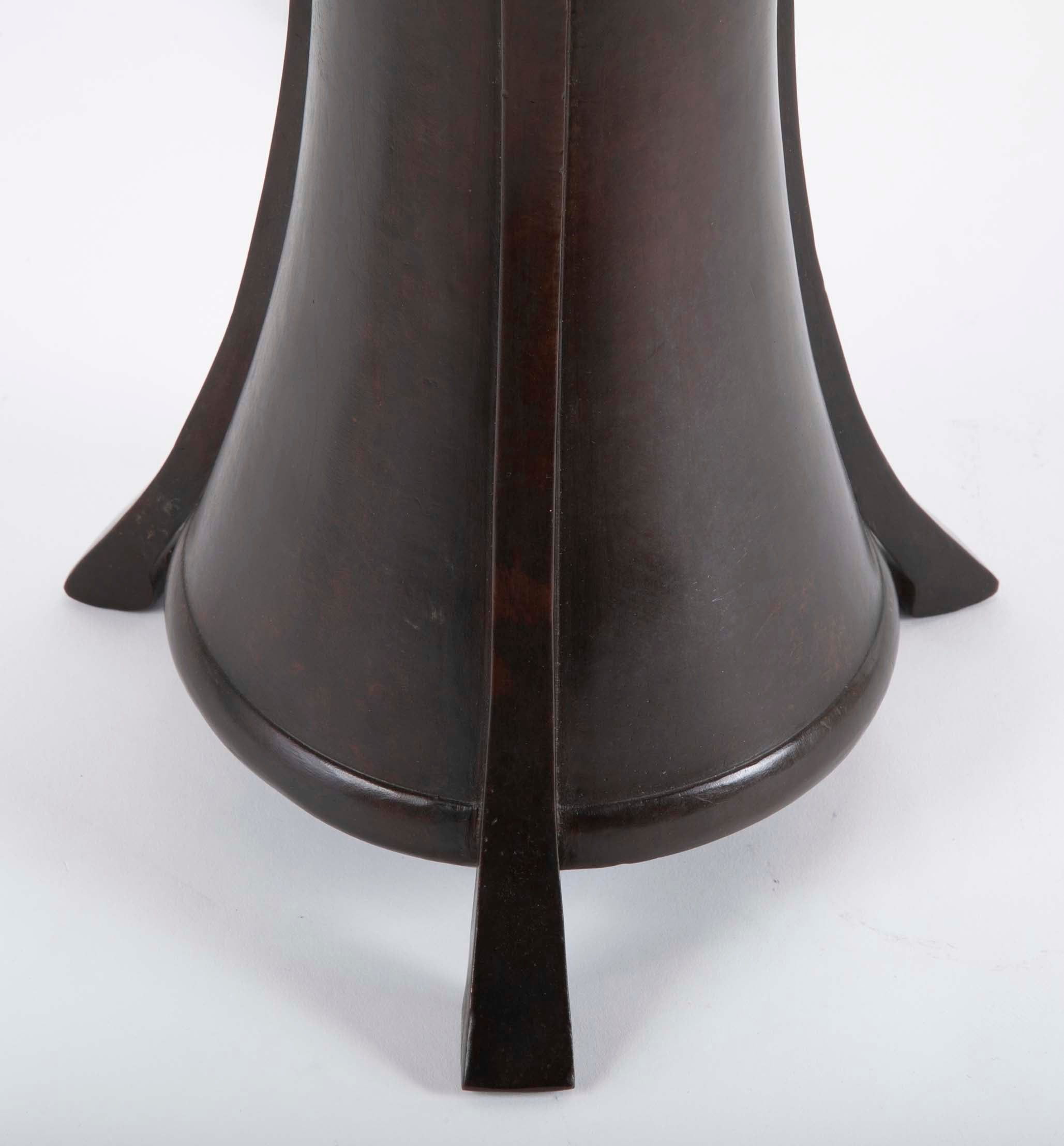 20th Century Japanese Bronze Lamp