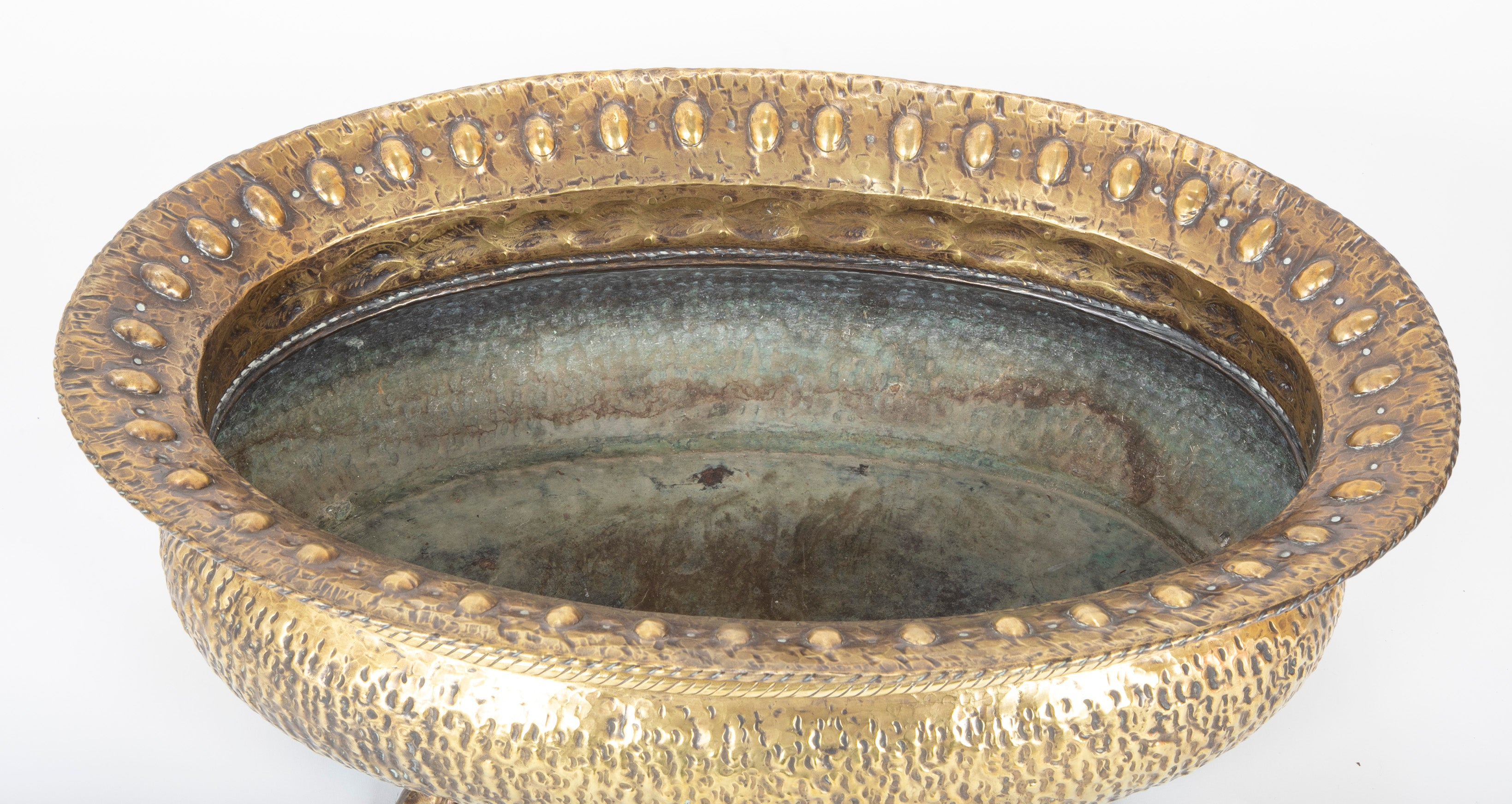 Early 20th Century Italian Hammered Brass Jardiniere