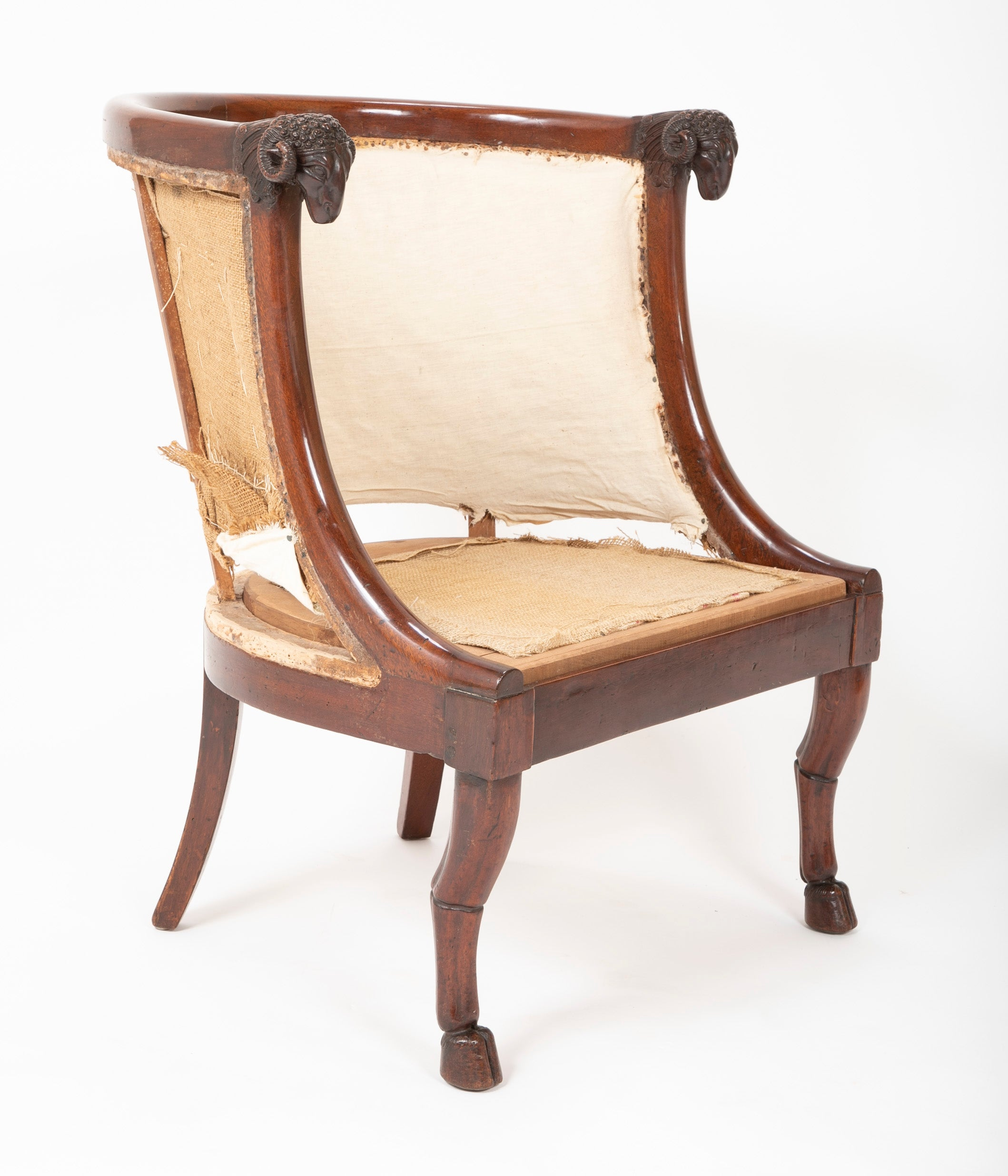 Very Fine Pair of French Empire Armchairs Attributed to Jacob Desmalter
