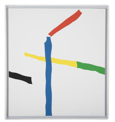 """Serie des Grues de Beaubourg"" Serigraph in 8 Colors on Paper by Jean Legros"