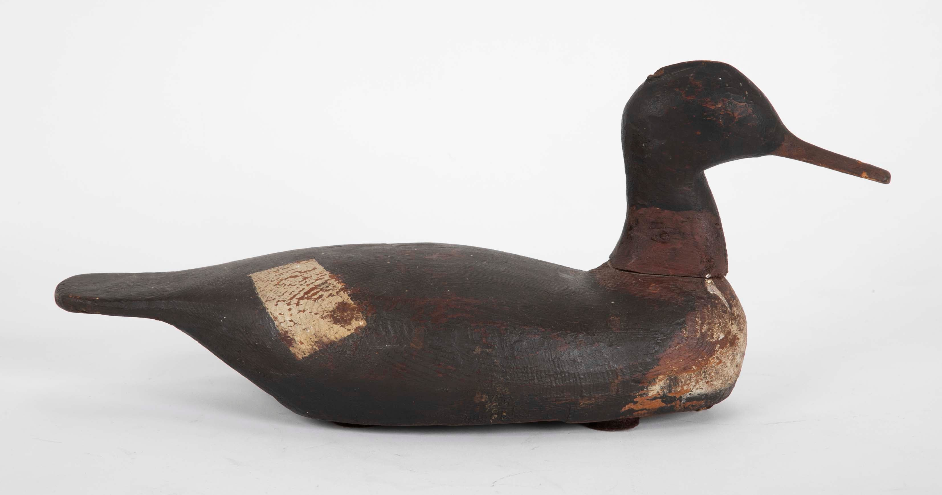 Wood Painted Working Decoy with Lead Weight