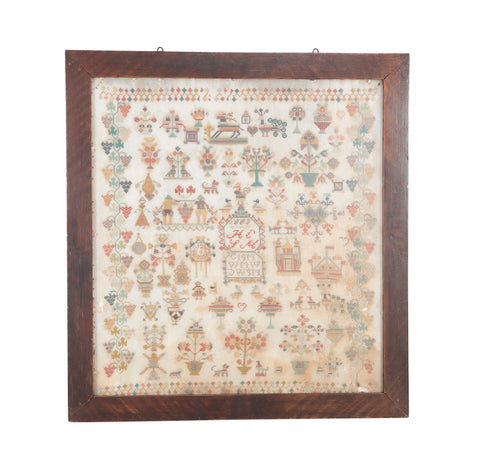 Late 19th Century English Needlepoint Sampler
