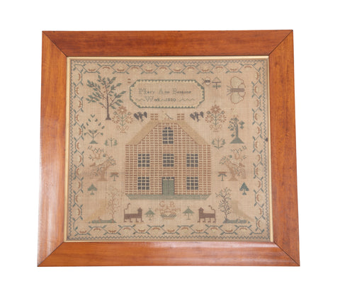 English Needlepoint Sampler by Mary Ann Bentons
