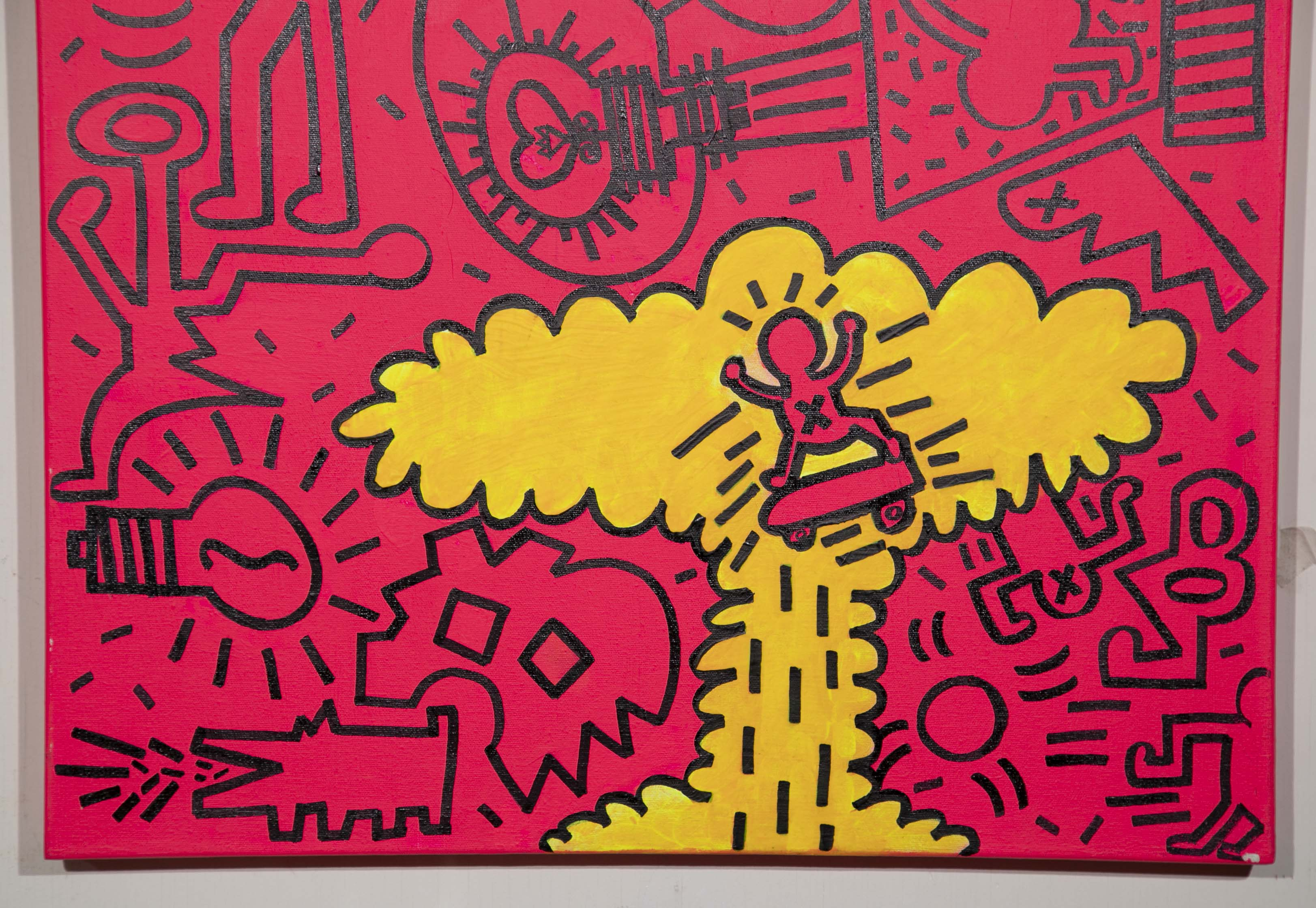 Acrylic Painting In The Manner Of Keith Haring – Avery & Dash ...