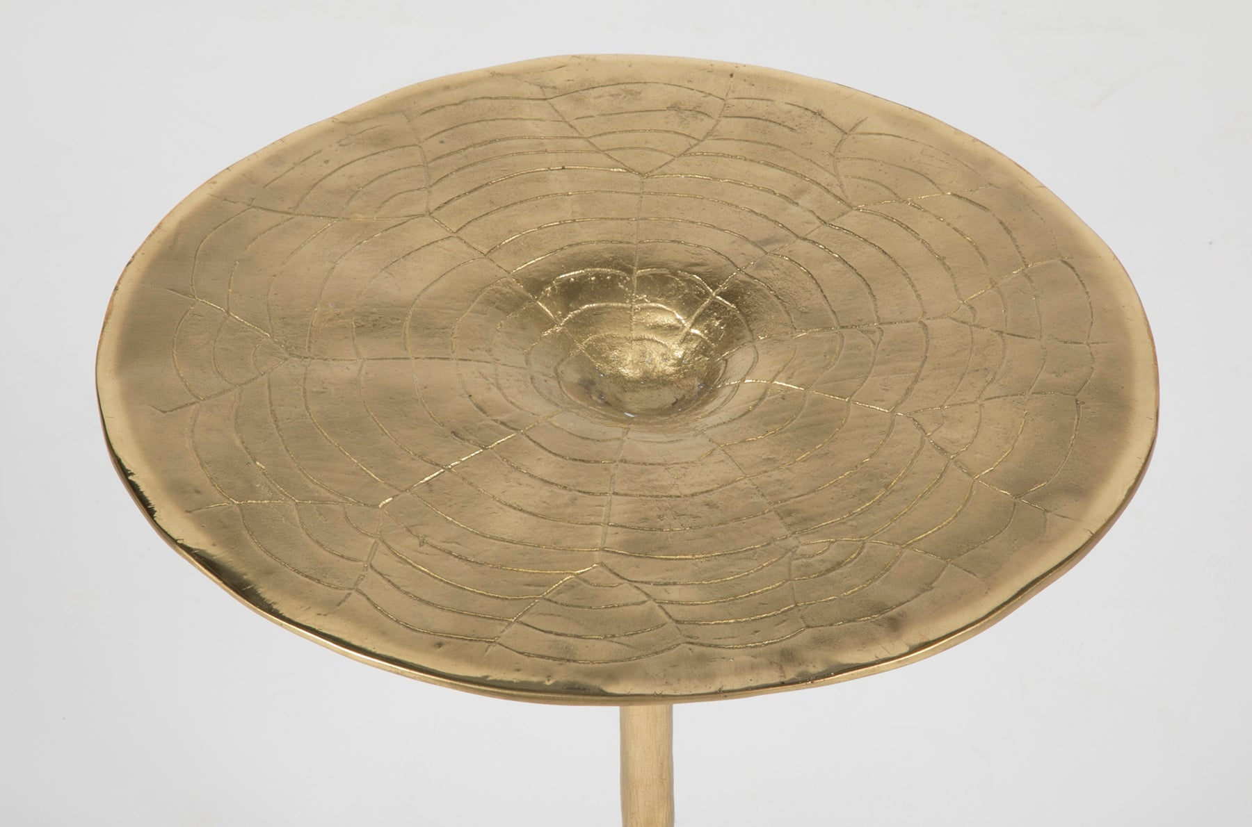 Small Brass Table in the Form of a Lotus Leaf
