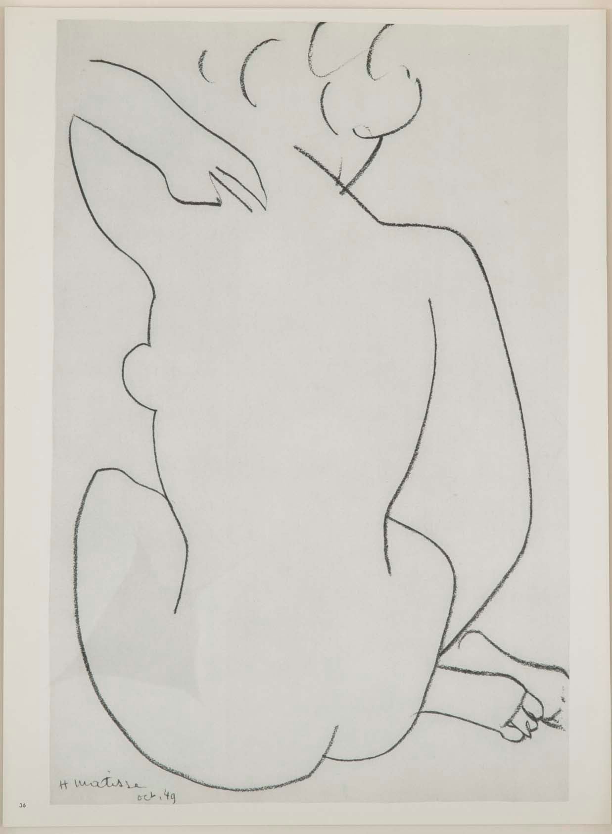 A Set of Four Lithographs of Drawings by Henri Matisse