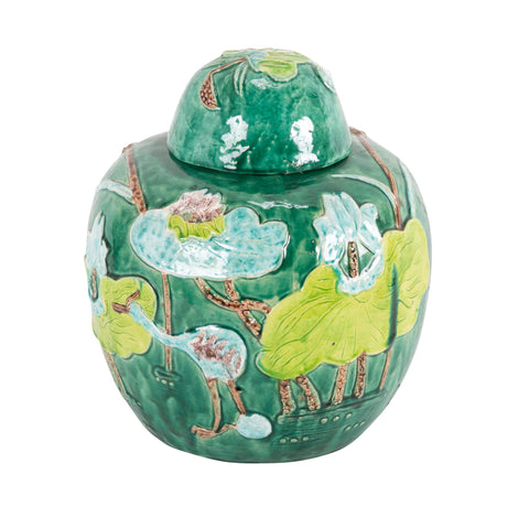 Decorative Covered Chinese Ginger Jar