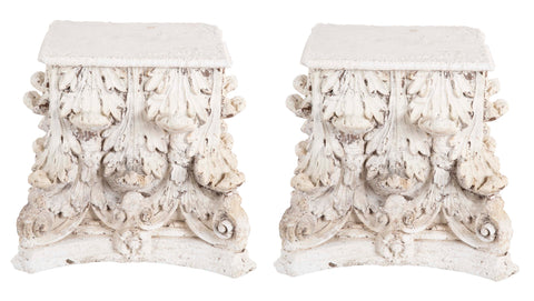 Pair of Carved Capitals