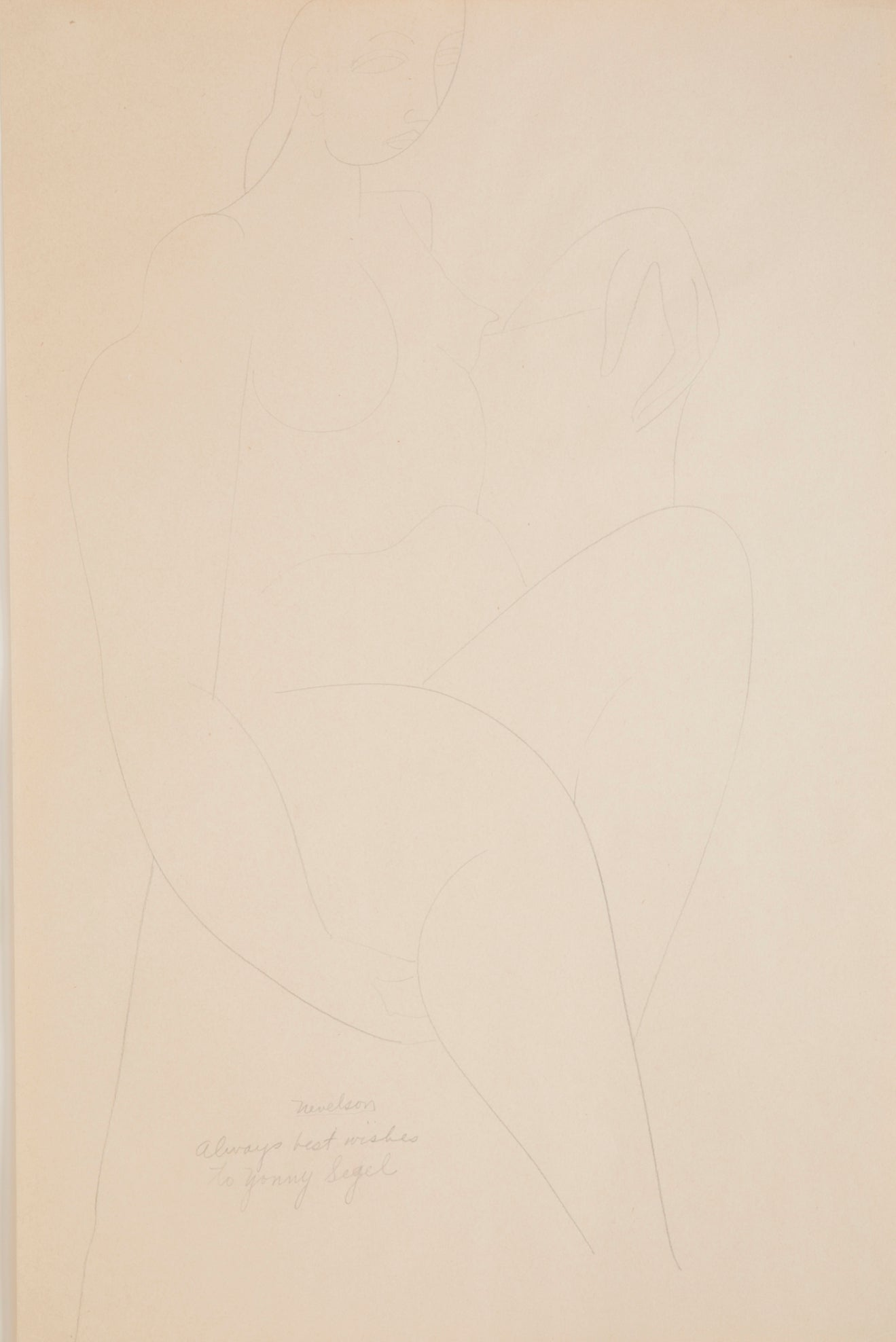 A Pencil Drawing by Louise Nevelson.