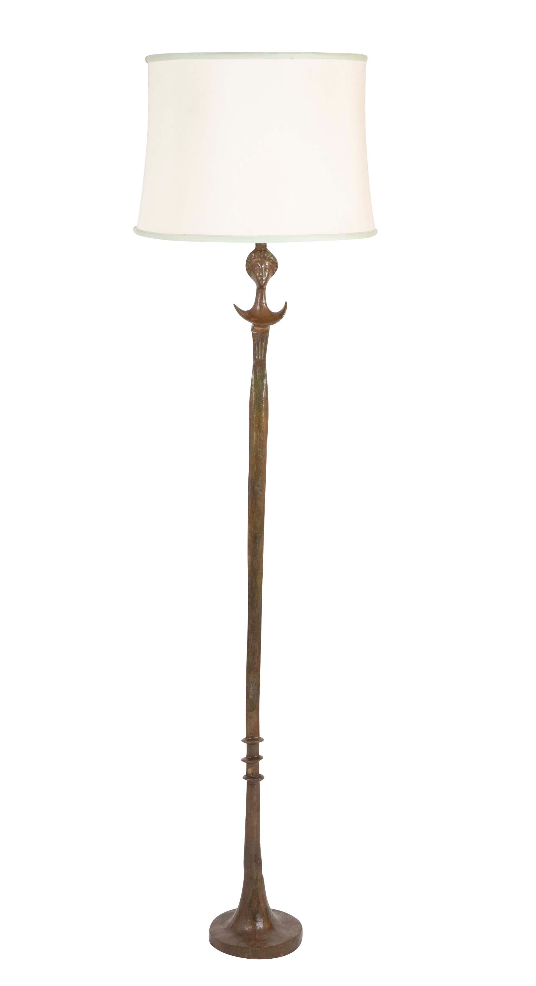 Bronze Floor Lamp in the Style of Giacometti